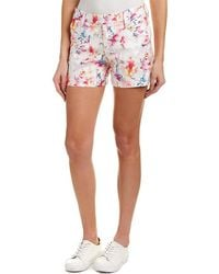 Level 99 - Cassandra Citrus Floral Linen-blend Short - Lyst