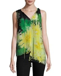 Tracy Reese - Silk Printed High-low Top - Lyst
