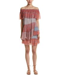 Rebecca Taylor - Off-the-shoulder Shift Dress - Lyst