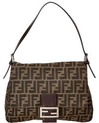 Fendi - Brown Zucca Canvas Mamma Bag - Lyst