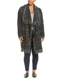 NYDJ - Plus Fringe Wool-blend Car Coat - Lyst