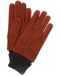 Burberry - Wool & Cashmere-trim Suede Gloves - Lyst