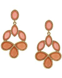 Sparkling Sage - 14k Yellow Gold Plated Resin Drop Earrings - Lyst
