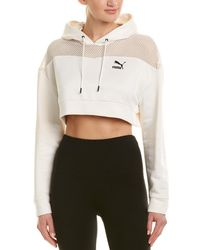 PUMA - Flourish Touch Of Life Cropped Hoodie (whisper White/ Black) Clothing - Lyst