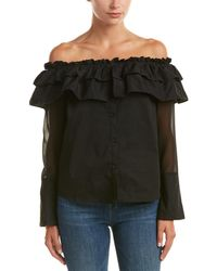 Jealous Tomato - Ruffled Off-the-shoulder Top - Lyst