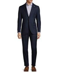 Lubiam - Notch Lapel Virgin Wool Suit - Lyst