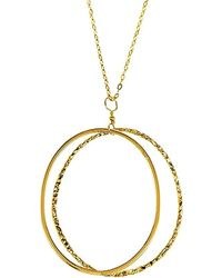 Charlene K - 14k Over Silver Double Circle Pendant Necklace - Lyst
