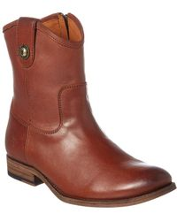 Frye - Melissa Button Leather Boot - Lyst