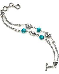 Samuel B. - Silver Turquoise Bracelet - Lyst