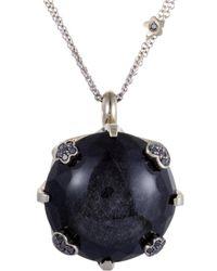 Pasquale Bruni - 18k 0.60 Ct. Tw. Diamond & Onyx Necklace - Lyst