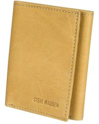 Steve Madden - Antique Genuine Leather Trifold - Lyst
