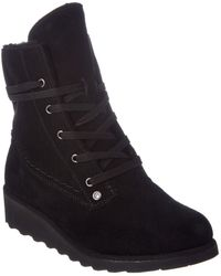 BEARPAW - Women's Krista Savvy Slim Tread Neverwet Suede Wedge Boot - Lyst