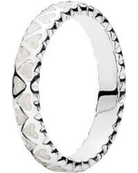 PANDORA - Silver Enamel Abundance Of Love Ring - Lyst