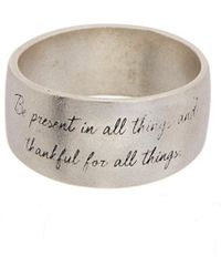 Dogeared - Maya Angelou Ring - Lyst