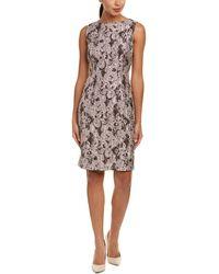 Lafayette 148 New York - Verona Silk-blend Shift Dress - Lyst
