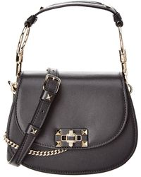 Valentino - Nose Ring Leather Shoulder Bag - Lyst