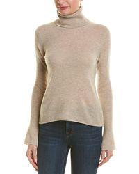 White + Warren - Bell-sleeve Cashmere Sweater - Lyst