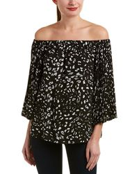 Vince Camuto - Animal Whispers Pleated-sleeve Blouse - Lyst