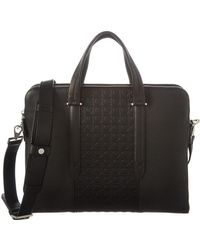 Ferragamo - Gancini Leather Messenger Bag - Lyst