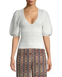 Torn By Ronny Kobo - Puffy Sleeve Sweater - Lyst