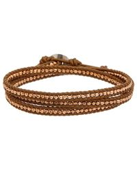 Chan Luu - Rose Gold Over Silver Leather Wrap Bracelet - Lyst