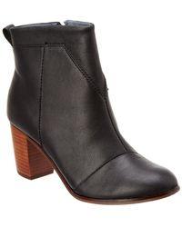 TOMS - Lunata Leather Bootie - Lyst