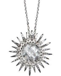 Anzie - Aztec Silver 2.40 Ct. Topaz Necklace - Lyst