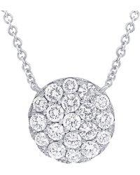 Diana M. Jewels - . Fine Jewelry 14k 0.99 Ct. Tw. Diamond Necklace - Lyst