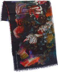 Alexander McQueen - Dripping Flower Wool-blend Scarf - Lyst