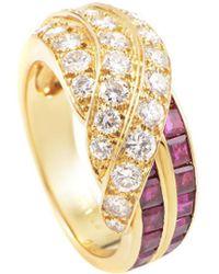 Heritage Van Cleef & Arpels - Van Cleef & Arpels 18k 1.80 Ct. Tw. Diamond & Ruby Ring - Lyst