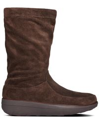 Fitflop - Loaff Slouchy Suede Boot - Lyst