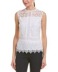Laundry by Shelli Segal - Lace Venise Top - Lyst