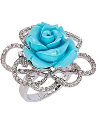 Le Vian - ® Silver 10.80 Ct. Tw. Turquoise & Topaz Ring - Lyst