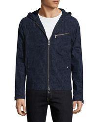 John Varvatos - . Hooded Jacket With Zipper Tape - Lyst
