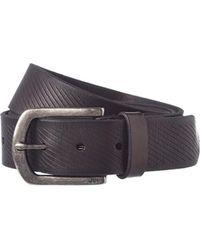 John Varvatos - Star U.s.a. Adjustable Leather Belt - Lyst