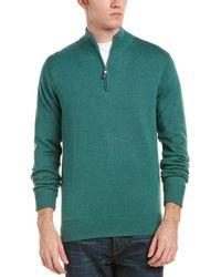 Peter Millar - Crown Soft Maxwell Lined 1/4-zip Merino Wool & Silk-blend Jumper - Lyst
