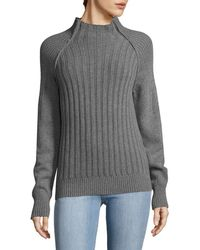 Lot78 - Ribbed Mockneck Top - Lyst