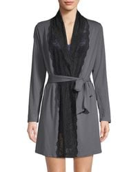 Samantha Chang - Lace Front Robe - Lyst