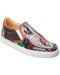 Christian Louboutin - Masteralta Patent Slip-on Sneaker - Lyst