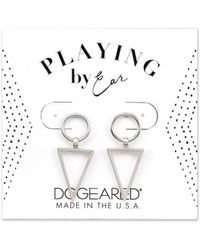 Dogeared - Playing By Ear Silver Earrings - Lyst