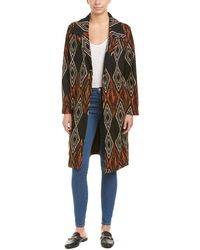 ANAMÁ - Printed Woven Long Jacket - Lyst