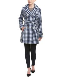 Laundry by Shelli Segal - Plaid Trench Coat - Lyst