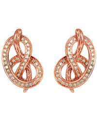 Le Vian - ® 14k Rose Gold 0.31 Ct. Tw. Diamond Earrings - Lyst