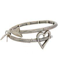 ALEX AND ANI - Valentine's Day Stainless Steel Wrap Bracelet - Lyst