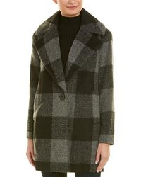 Kensie - Wool-blend Window Pane Cocoon Jacket - Lyst