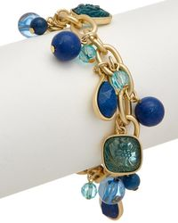 Carolee - True Blue 12k Plated Flex Bracelet - Lyst