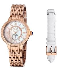 Gv2 - By Gevril Diamond Astor Watch With Interchangeable Strap - Lyst