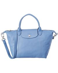 Longchamp - Le Pliage Cuir Small Leather Short Handle Tote - Lyst