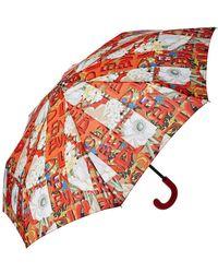 Burberry - Graffiti Archive Scarf Print Folding Umbrella - Lyst