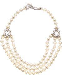 Ferragamo - Pearl Necklace - Lyst